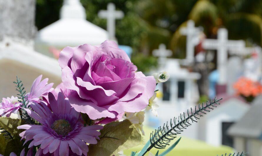 Välja blommor för en begravning